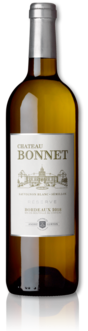 bottle of 2018 Château Bonnet Réserve white