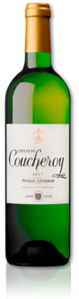 bottle of 2017 Château Coucheroy white
