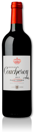 bottle of 2015 red Château Coucheroy