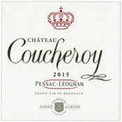 Label of 2015 red Château Coucheroy