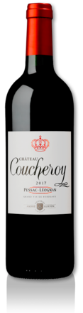 bottle of 2017 Château Coucheroy red