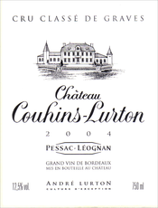 2004 White Château Couhins-Lurton label