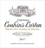 label of 2017 Château Couhins-Lurton white