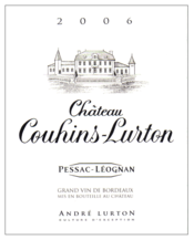 label château Couhins-Lurton red 2006
