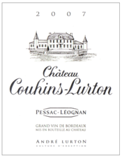 label château Couhins-Lurton red 2007
