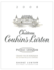 label château Couhins-Lurton red 2008