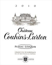 label château Couhins-Lurton red 2010