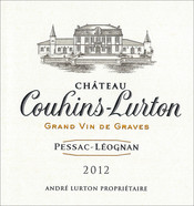 label château Couhins-Lurton red 2012