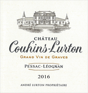 2016 red Château Couhins-Lurton label
