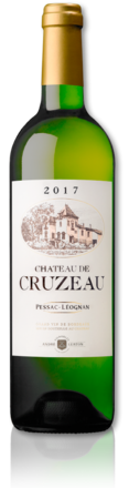 bottle of 2017 Château de Cruzeau white