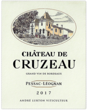 label of 2017 Château de Cruzeau white