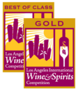 Best of class Gold Los Angeles International Wine and Spirits Competition medal