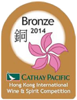 Hong kong international wine and spirits bronze medal