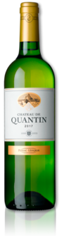 bottle of 2017 Château de Quantin white
