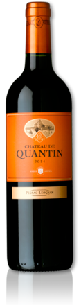 2014 red Château de Quantin bottle