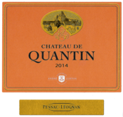 2014 red Château de Quantin label