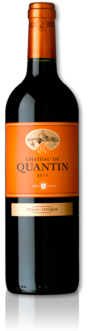 bottle of 2017 Château de Quantin red