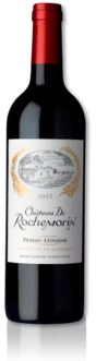 bottle of 2017 Château de Rochemorin red