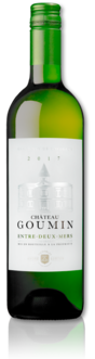 bottle of 2017 white Château Goumin