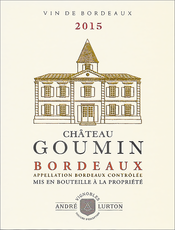 label of 2015 red Château Goumin