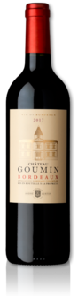 bottle of 2017 Château Goumin red