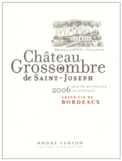 label château Grossombre de Saint-Joseph red 2006