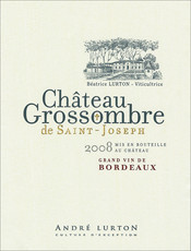 label château Grossombre de Saint-Joseph red 2008
