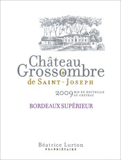 label Château Grossombre de Saint-Joseph red 2009