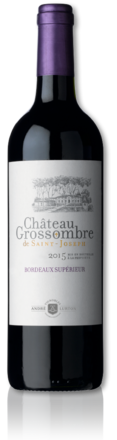 bottle of 2015 Château Grossombre de Saint-Joseph