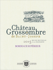 label of 2015 Château Grossombre de Saint-Joseph