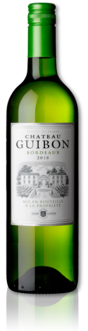 bottle of 2018 Château Guibon white