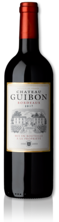 bottle of 2017 Château Guibon red