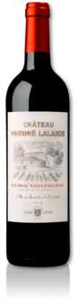 bottle of 2014 Château Prieuré Lalande