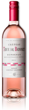 2014 rosé Château Tour de Bonnet bottle