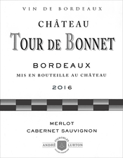 label of 2016 red Château Tour de Bonnet