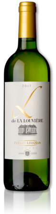 bottle of 2017 L de La Louvière white