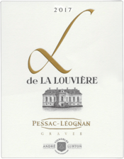 label of 2017 L de La Louvière white
