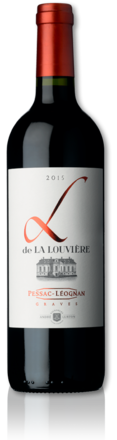 bottle of 2015 red L de La Louvière