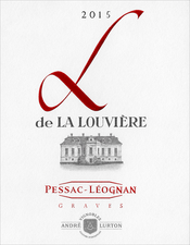 Label of 2015 red L de La Louvière