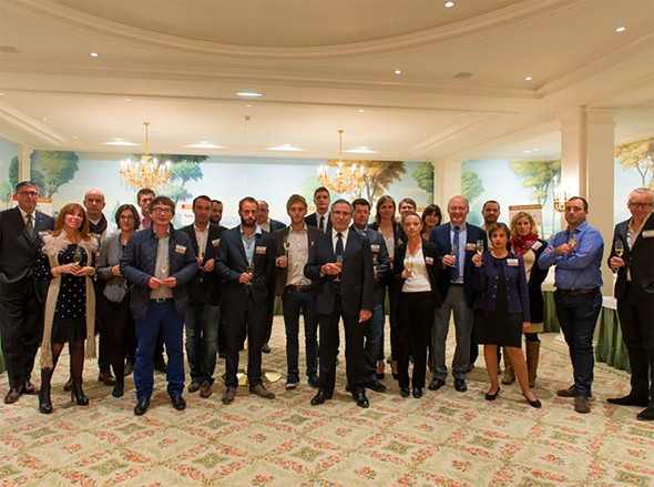 The Coupe des Crus de Saint-Émilion winners at the Hotel Bristol in Paris
